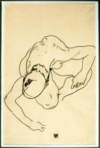 Egon Schiele Crouching Woman, 1917 Pencil on paper Photography courtesy The Abelló Collection Photographer: José Loren